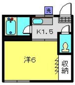 フラッツK2階Fの間取り画像