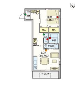 (シニア限定)ヘーベルVillage赤羽志茂3階Fの間取り画像