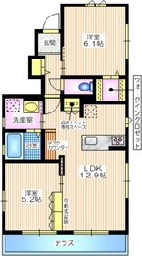 フルール1階Fの間取り画像