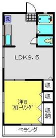 ハイツ浅川2階Fの間取り画像