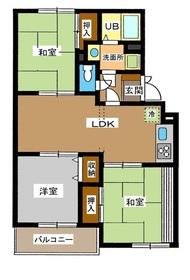 成増駅 徒歩18分2階Fの間取り画像