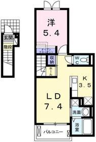 小作駅 徒歩26分2階Fの間取り画像