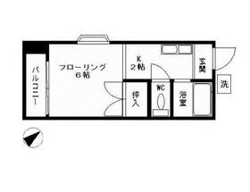 三ッ沢下町駅 徒歩8分2階Fの間取り画像