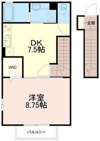 ヴェルデュール2階Fの間取り画像