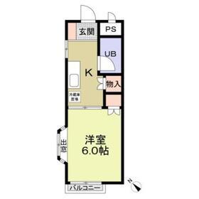 カルチュール2階Fの間取り画像