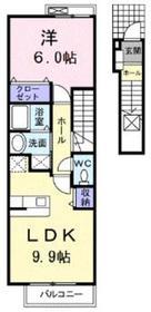 チェリーフィールドノース2階Fの間取り画像
