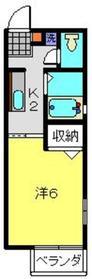 カーサルナ2階Fの間取り画像