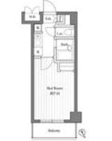 グランシャルム川崎12階Fの間取り画像