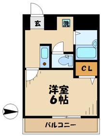 レジデンスSUDA2階Fの間取り画像