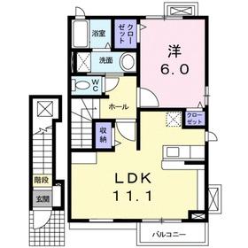 ブランセレノ2階Fの間取り画像