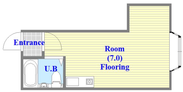 大宝菱屋西CTスクエア シンプルな間取りですが、使い勝手が良い間取りです。