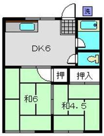 上永谷コーポ1階Fの間取り画像