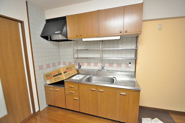 パレグリシーヌ 大きなキッチンはお料理の時間を楽しくしてくれます。