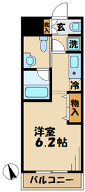 マンションホワイトホース1階Fの間取り画像
