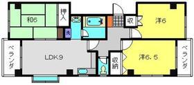 シャンス東寺尾中台243階Fの間取り画像