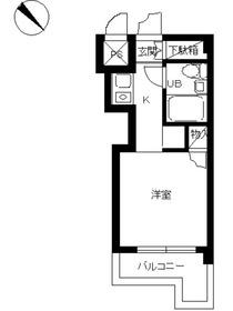 スカイコート横浜平沼5階Fの間取り画像