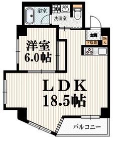 イーストガーデン4階Fの間取り画像