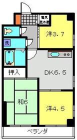 カームヒルズ3階Fの間取り画像