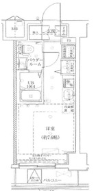 LUMEED横浜阪東橋10階Fの間取り画像