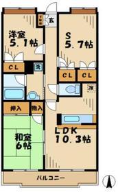 黒川駅 徒歩14分3階Fの間取り画像