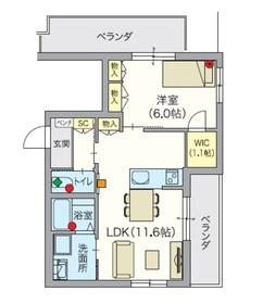 ヘーベルVillage 椎名町 山手通り3階Fの間取り画像