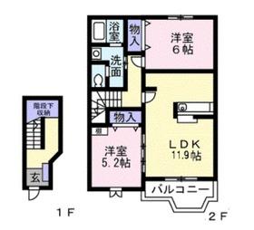 リュミエールカトル2階Fの間取り画像