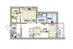 ヘーベルVillage 新江古田1階Fの間取り画像