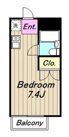クリオス相模原2階Fの間取り画像