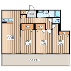 テフィール3階Fの間取り画像