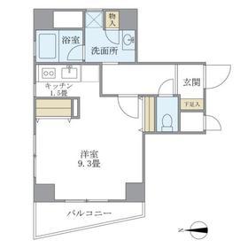 サンハイツ浅草3階Fの間取り画像