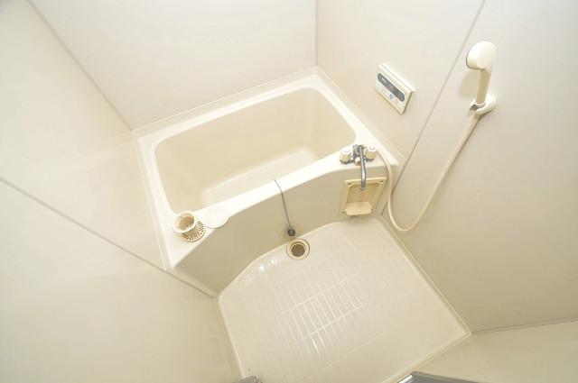 プラムガーデンハイツ ちょうどいいサイズのお風呂です。お掃除も楽にできますよ。