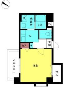 スカイコート神楽坂壱番館13階Fの間取り画像