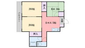 飯倉ビル5階Fの間取り画像
