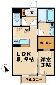 海老名駅 車22分7.7キロ1階Fの間取り画像