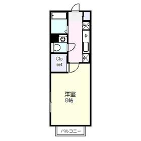シーフラット1階Fの間取り画像