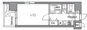 レジディア神楽坂11階Fの間取り画像