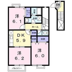 エトワ-ル2階Fの間取り画像