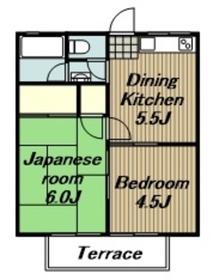 相武台下駅 車14分6.0キロ2階Fの間取り画像