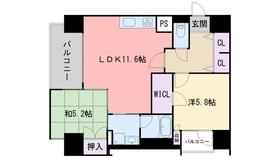 レジディア西新7階Fの間取り画像
