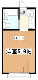 メゾンホリ2階Fの間取り画像