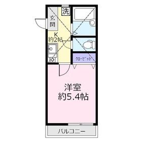 ラウレア上福岡2階Fの間取り画像