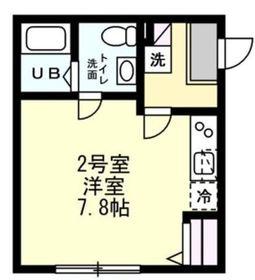 ベイルーム横濱南2階Fの間取り画像
