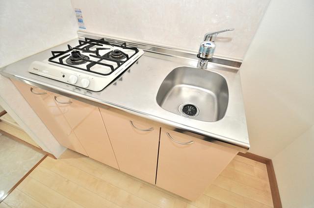 アートメゾン 落ち着いた色合いのキッチン。使い勝手も良いです。