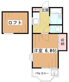 ホワイトキャッスル萩山1階Fの間取り画像