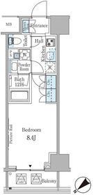 ルビア赤坂2階Fの間取り画像