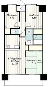 ダイアパレス本厚木ラ・クラッセ3階Fの間取り画像