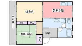 コーポ高倉3階Fの間取り画像