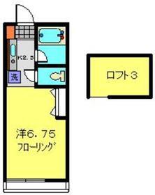 日吉駅 徒歩14分2階Fの間取り画像