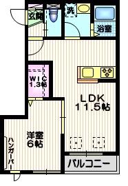 グレイス柿の木坂2階Fの間取り画像