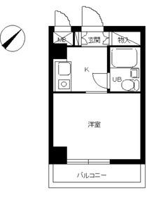 スカイコート横浜平沼2階Fの間取り画像